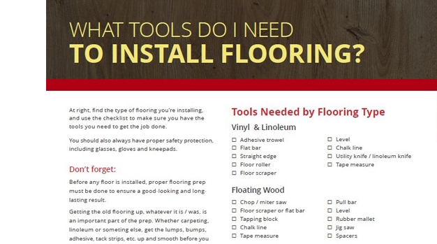 Flooring Tools Checklist You