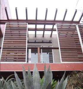 Creating a Modern Exterior Facade with Slatted Wood Panels