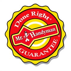 Mr. Handyman Done Right Guarantee badge