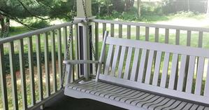 porch with porch swing
