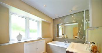 open bathroom space