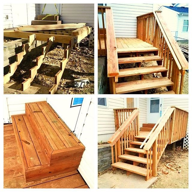 wood deck with stairs  - a Recently Complted Project