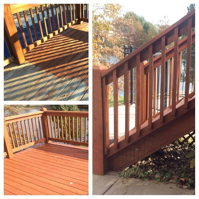 wood deck and stairs - a Recently Complted Project