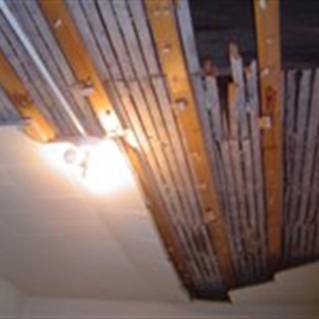 Damaged ceiling