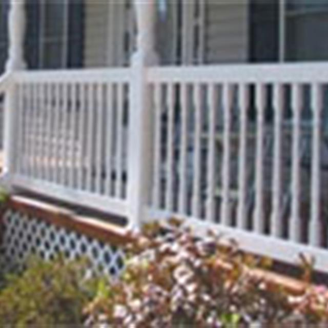 Vinyl porch railings and posts #mrhandyman6821 #exteriorhome