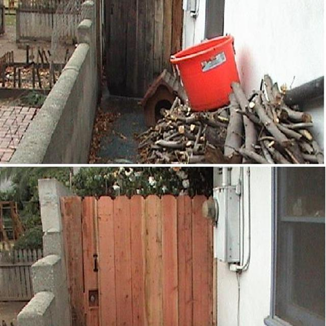 Wood Gate - Before & After