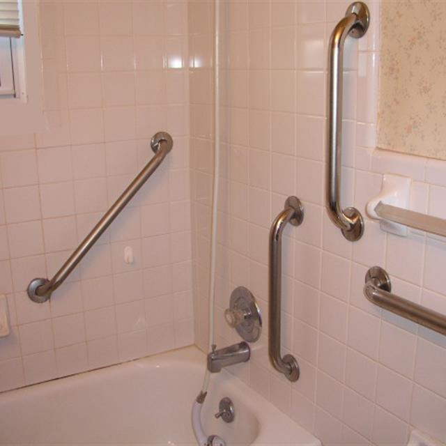Grab bars and bath accessory installations. Whether you are improving bathroom safety or just accessorizing Mr. Handyman can help. Our professional technicians can install your grab bars and grab rails onto virtually any surface. Installing grab bars in tubs or shower enclosures provide a secure and safe environment Mr. Handyman can also install your towel bars, towel rings, bath hooks, adjustable curved sower rods or just about any bath accessory. #bathrooms #mrhandyman4805