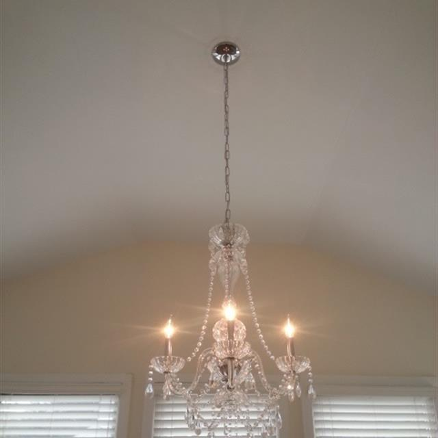 Chandelier Installation #electrical #ceiling #mrhandyman9608