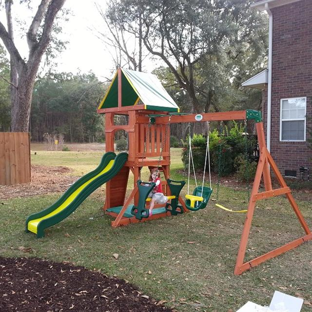 Swing sets are a great investment for families of all sizes. Your children will have hours of fun healthy outdoor exercise. Whether you purchase an inexpensive metal swing set, or a complicated wooden swing set, your children will benefit equally. #mrhandyman9608 #handyman