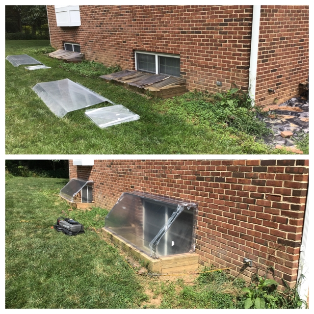 Egress-Window-Well-Cover-Replacement-McLean-VA - a Recently Complted Project