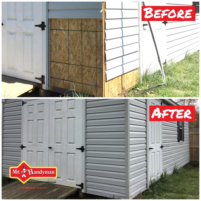 shed siding  - a Recently Complted Project