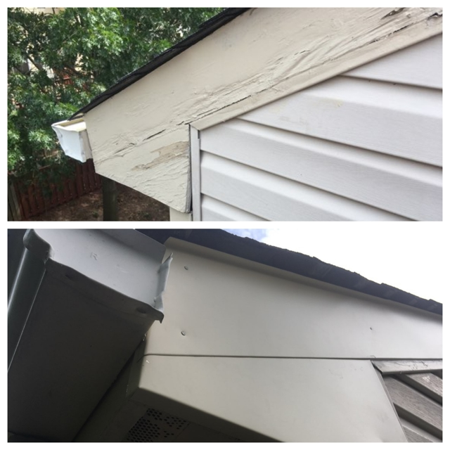 Wood Rot repair Manassas, VA - a Recently Complted Project