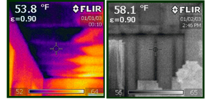 infrared imaging of house