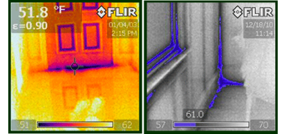 infrared imaging of door and corners