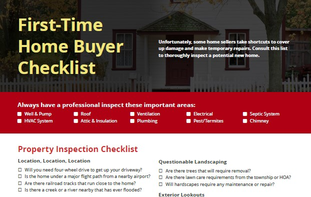 First Time Home Buyer Checklist banner
