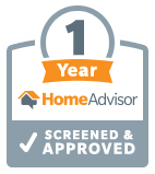Home Advisor Screened & Approved 1 Year Badge