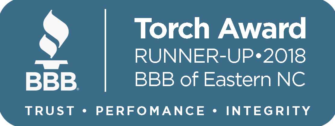 Torch Award Runner Up 2018 BBB of Easter NC