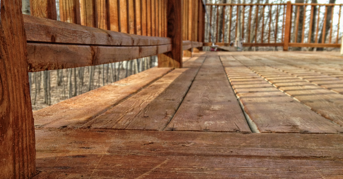 detail of wooden deck