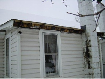 house before gutter installation