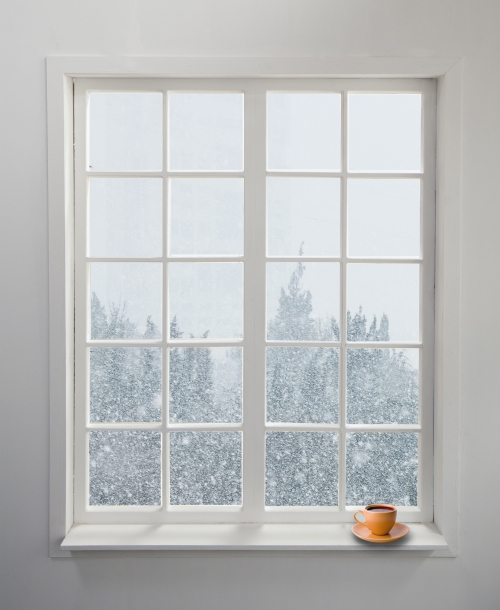 White window looking out into snow