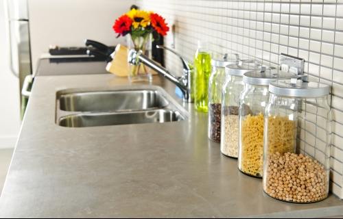 Kitchen Counter Sink and Creative Storage