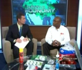 Mr. Handyman Franchisee Carl Baynes sharing energy saving tips on CBS 10 Connects