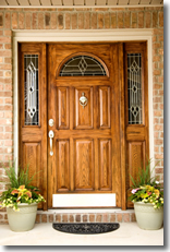 Exterior Wood Door Cleaning
