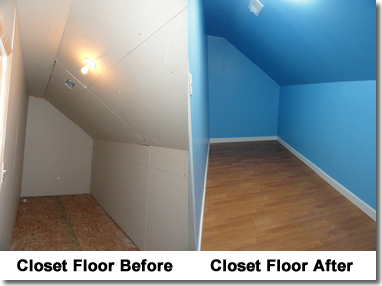 Closet Floor Improvement