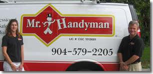 Mike McCalley owner Mr. Handyman serving Greater Jacksonville, FL
