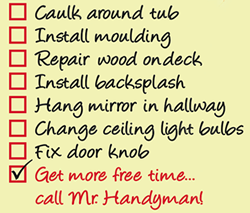 Home Maintenance and Repair To-Do list