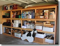 Garage Shelving, Custom Built 2 x 4 and Plywood Unit