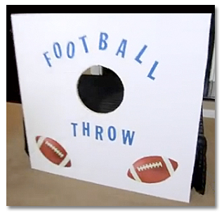 Football throw activity DIY
