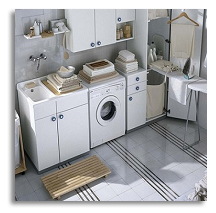 A well organized laundry room