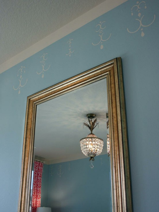 painted fake crown molding