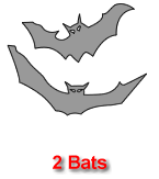 Two Bats Pumpkin Carving Template