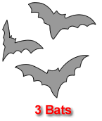 Three Bats Pumpkin Carving Template