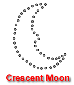 Crescent Moon Pumpkin Carving Template