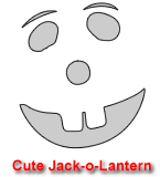 Cute Jack-o-Lantern Pumpkin Carving Template