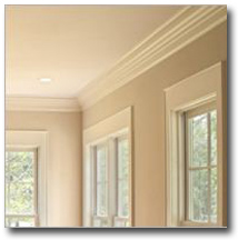 crown molding for beige room