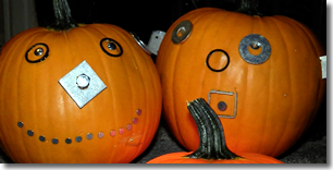 Pumpkins Decorated with Hardware