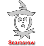 Scarecrow Pumpkin Carving Template