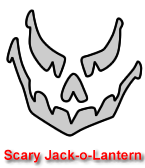 Scary Jack-o-Lantern Pumpkin Carving Template