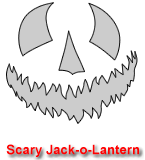 Scary Jack-o-Lantern Pumpkin Carving Template 2