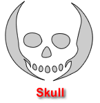 Skull Pumpkin Carving Template