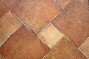 Brown ceramic tile