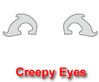 Creepy Eyes Pumpkin Carving Template