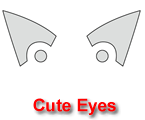 Cute Eyes Pumpkin Carving Template