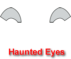 Haunted Eyes Pumpkin Carving Template