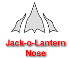Jack-o-Lantern Nose Pumpkin Carving Template