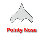 Pointy Nose Pumpkin Carving Template